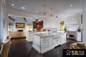 欧式高雅的复式楼厨房橱柜装修效果图大全2014图片