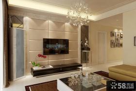 现代客厅软包电视背景墙设计图