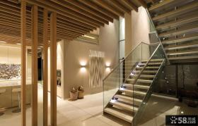 原生态朴质的复式楼客厅装修效果图大全2014图片