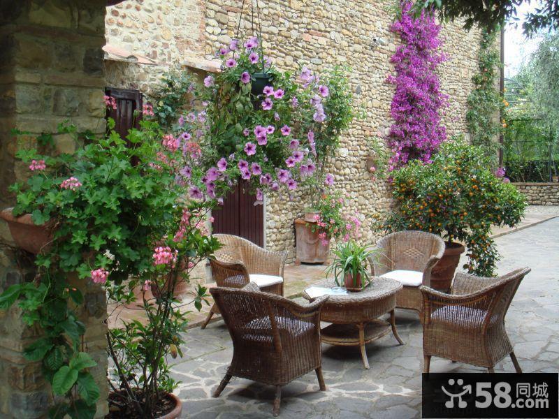 乡村风格别墅花园设计实景图