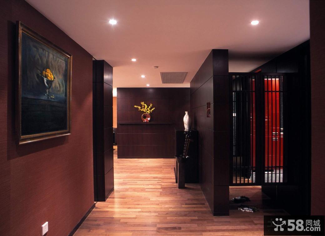 新中式风格入户玄关隔断装修效果图图片