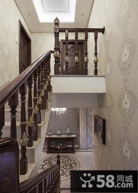 古典欧式扶手楼梯设计