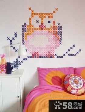 创意卧室墙面壁纸图片