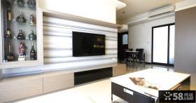 现代简约装修电视背景墙壁纸图片
