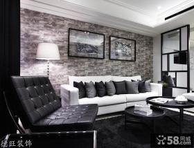 现代风格客厅沙发背景墙效果图片欣赏2013