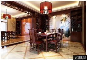 中式别墅餐厅装修效果图大全2012图片