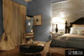 90平小户型地中海风格奢华卧室窗帘装修样板房