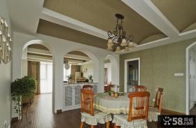 美式风格餐厅家居装饰效果图
