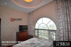 欧式卧室阳台护拦设计效果图