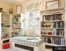 现代风格书房飘窗装修效果图