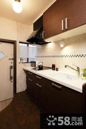 样板间厨房橱柜大理石台面图片