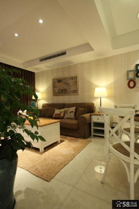 美式风格客厅挂画装饰效果图片
