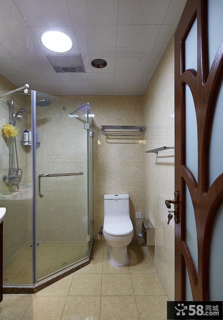 简约家居浴室卫生间简单装修图片