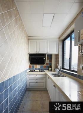 地中海风格家居狭长厨房装修图大全