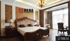 主卧室床头壁纸背景墙效果图