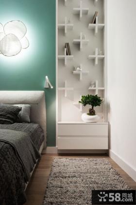 混搭风格家庭设计卧室床头柜图片大全