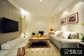 简约时尚设计客厅电视背景墙图片欣赏