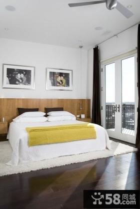 2013年优质卧室装修效果图 25平米现代简约卧室设计