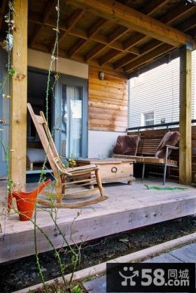 小户型木质文艺阳台装修效果图大全2014图片