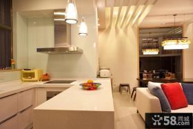 小户型厨房吧台面设计