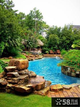 迷人别墅庭院景观设计图片
