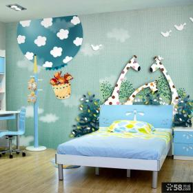 儿童房卧室墙纸背景墙