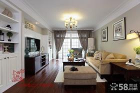 现代美式风格整体客厅效果图