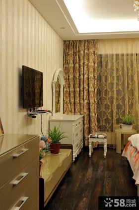 现代田园卧室电视背景墙图片大全