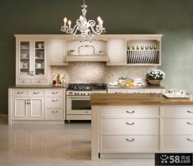 欧式风格一字型厨房吧台装修效果图