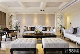 简欧别墅客厅设计装饰效果图