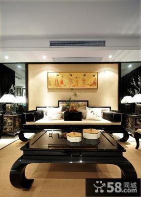 新中式风格别墅室内效果图