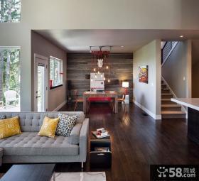 复式楼装修效果图 客厅室内设计效果图