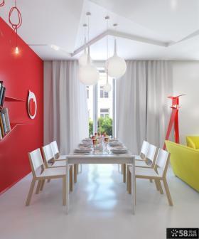 现代风格餐厅吊顶装饰设计