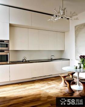 简欧风格开放式I型厨房设计