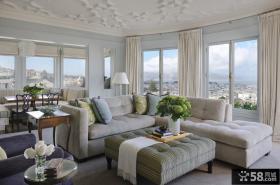 最新简欧客厅装修效果图片