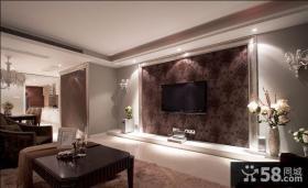 新古典风格客厅电视背景墙装修效果图大全2013图片