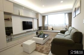 现代简约风格客厅电视背景墙设计图欣赏