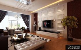 新古典风格家庭装修客厅电视背景墙
