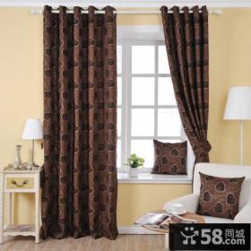 欧式客厅飘窗窗帘效果图片