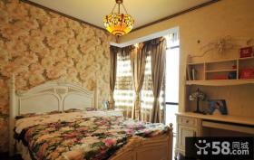 欧式田园风格三室两厅卧室设计效果图