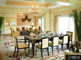 客厅与餐厅一体化吊顶装修效果图