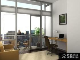 室内书房阳台装修效果图大全2012图片