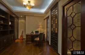 简约中式别墅书房装修效果图 中式书房装修效果图大全2012图片