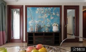 客厅玄关墙面装饰图片