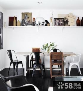 绝对简约清新含有现代元素的美式风格装修餐厅图片