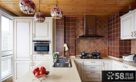 家庭阳台厨房设计效果图