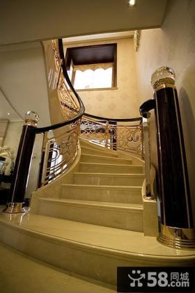 欧式复式楼旋转楼梯设计
