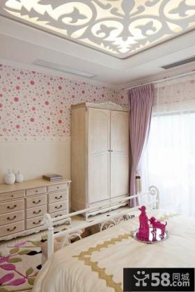 欧式田园卧室储物柜图片