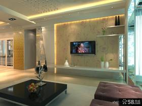 客厅电视背景墙壁纸装饰图片