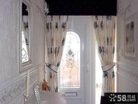 别墅玄关装饰窗帘